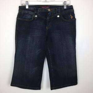 Baby Phat Capri Jeans Dark wash Blue size 9